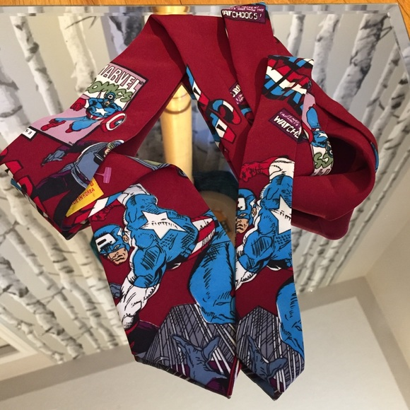 Marvel Captain American Neck Tie